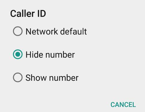 Hide phone number