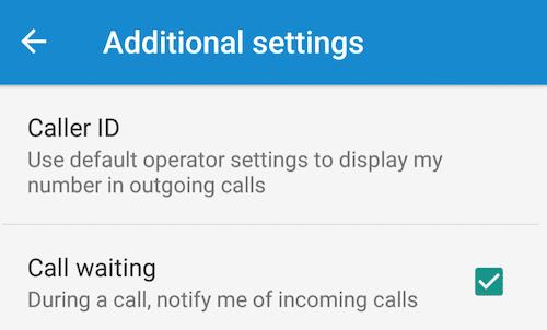 additional call settings